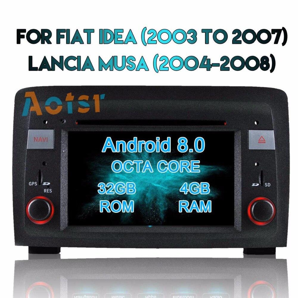 Para Fiat Panda 2004-2018 Android 8,0 Autoradio coche reproductor Multimedia Radio estéreo DVD GPS de navegación se sentó Navi medios MirrorLink