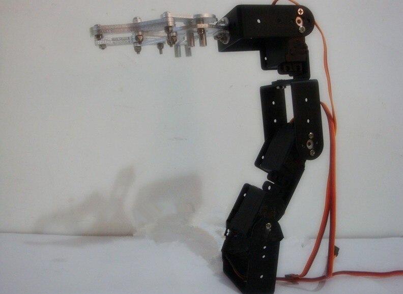 4 Dof brazo Robot manipulador robótico montado en vehículo para chasis de tanque de coche inteligente + garra mecánica + 4 piezas juguete RC de alta torsión Servo DIY