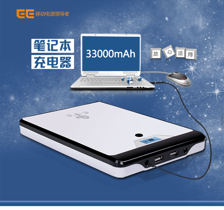 Adjustable 5V,9V,12V,16V,19V,20V(4.5AH) 32000MAH Lithium Li-polymer USB rechargeable Batteries for Laptop cellphone Power Bank