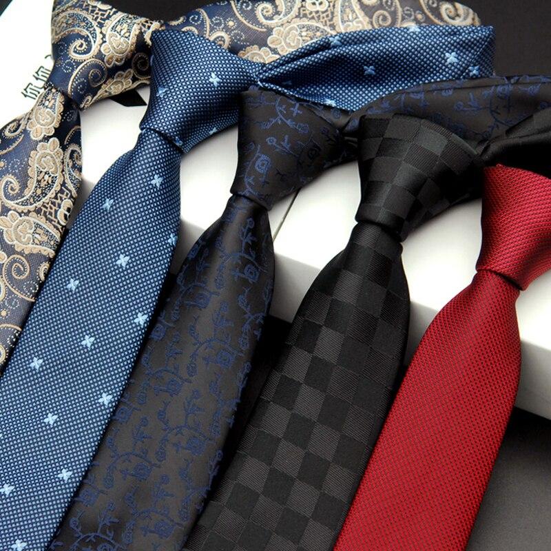 Alta qualidade novo homem mulher magro gravata de seda do noivo casamento xadrez polka dot 6 cm gravata negócio estreito tecido pescoço laços
