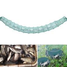 Pliable Portable filet de pêche filet de poisson anguille crevette leurre filets crabe écrevisse homard receveur piège vivant