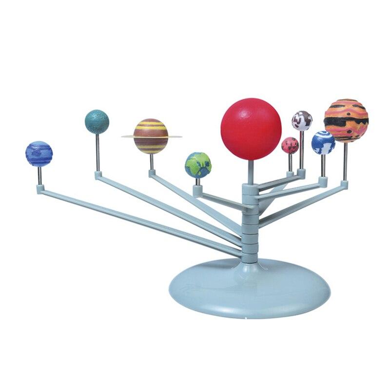 Sistema Solar, instrumento planetario, modelo de nueve planetas, Kit de pintura de astronomía, modelo de ciencia, planetario, juguetes educativos para niños