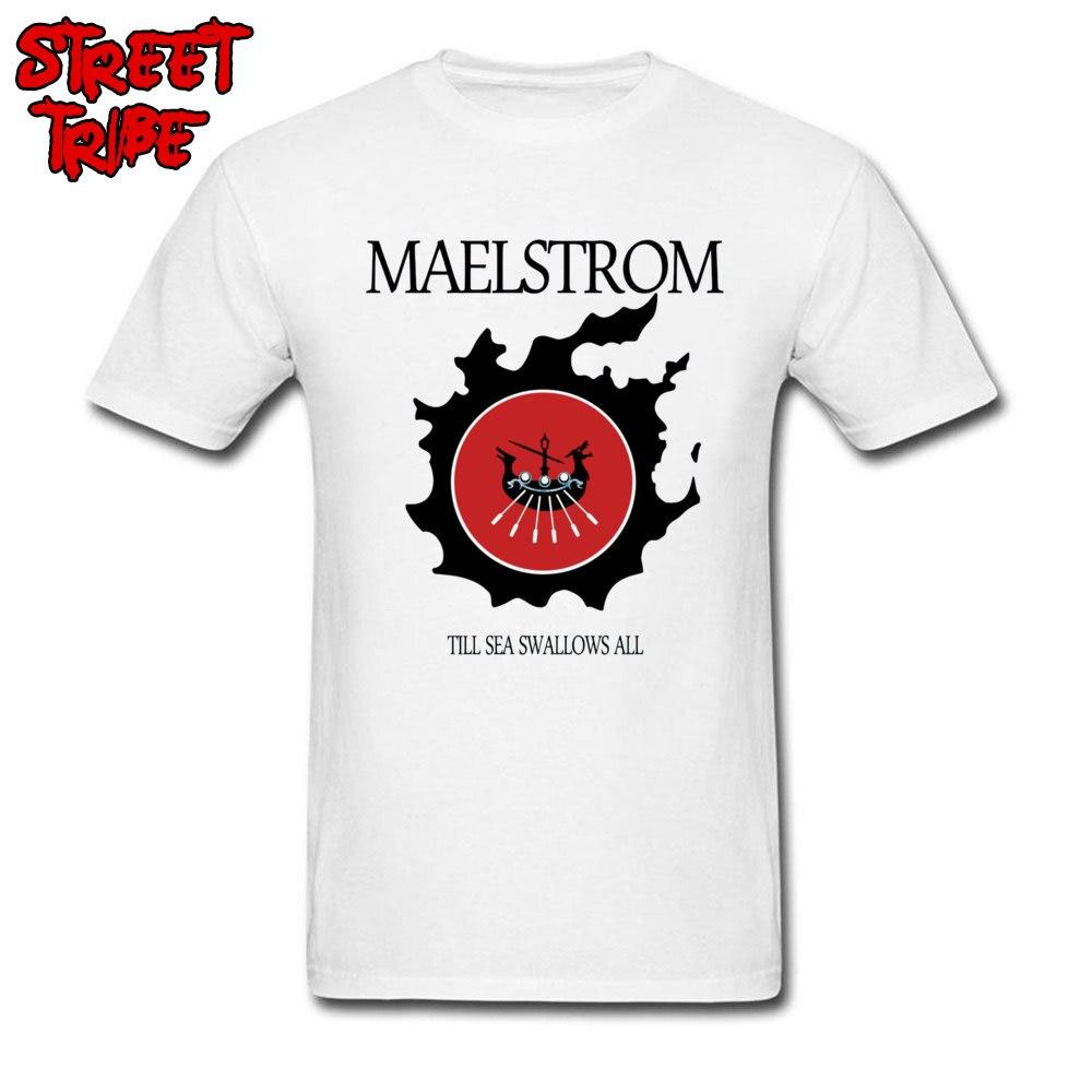 Camiseta con jugador hombres FF XIV Maelstrom camiseta impresionante Final Fantasy camisetas de algodón personalizado ropa blanca hombre verano RPG Tops camisetas