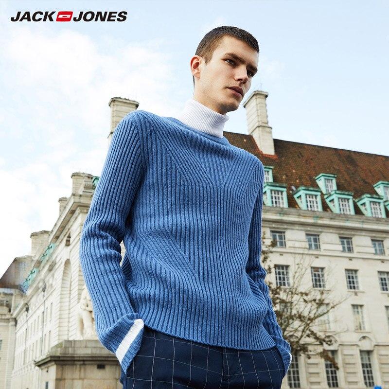 JackJones 2019 primavera nueva mezcla de lana cuello redondo suéter Delgado   218325513