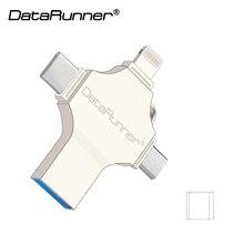 DataRunner 4 in 1 ontwerp Usb Flash Drive 128 gb Usb Stick 3.0 OTG Pen Drive 16 gb 32 gb 64 gb cle Usb 3.0 Flash Disk Pendrive