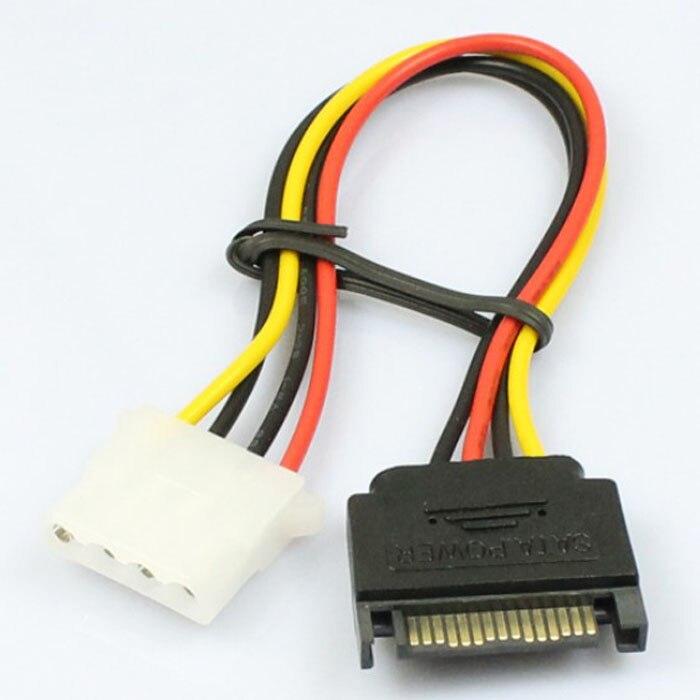 15 broches SATA mâle à 4 broches Molex femelle IDE HDD puissance disque dur câble professionnel prix usine livraison directe