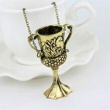 Transformation de bijoux Horcrux, collier de tasse, pendentif Helga, Bronze, Vintage, Conversion de breloques