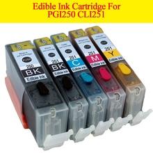 GN PGI 250 CLI 251 edible ink cartridge For canon PIXMA MG5420 MG5422 MG5520 MG5522 MG6420 IP7220 MX722 MX922 IX6820 printer