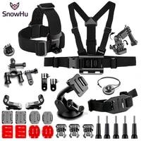 snowhu for sport camera accessories set chest strap monopod head belt mount for gopro hero 9 8 7 6 for sjcam yi 4k camera gs90