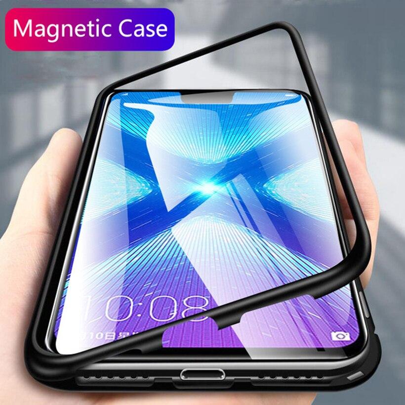 Magnetischen Flip Fall für Vivo Z5X Y17 U3X U10 Y15 Y12 Y3 Y19 U3 Y5S U20 Glas Magnet Abdeckung für vivo IQOO Neo V9 Y85 V15 V17 S1 Pro