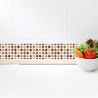 Funlife     bordures de papier peint mosaique auto-adhesive  bordures murales decoratives impermeables pour salle de bain cuisine  autocollant mural pour maison moderne