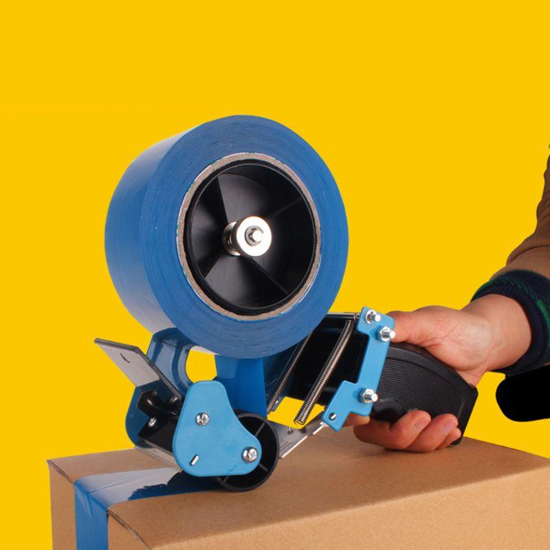 Cortador de cinta de 6cm de ancho, cintas de sellado, dispensador de pistola, máquina de paquete, herramienta empacadora de mano, soporte