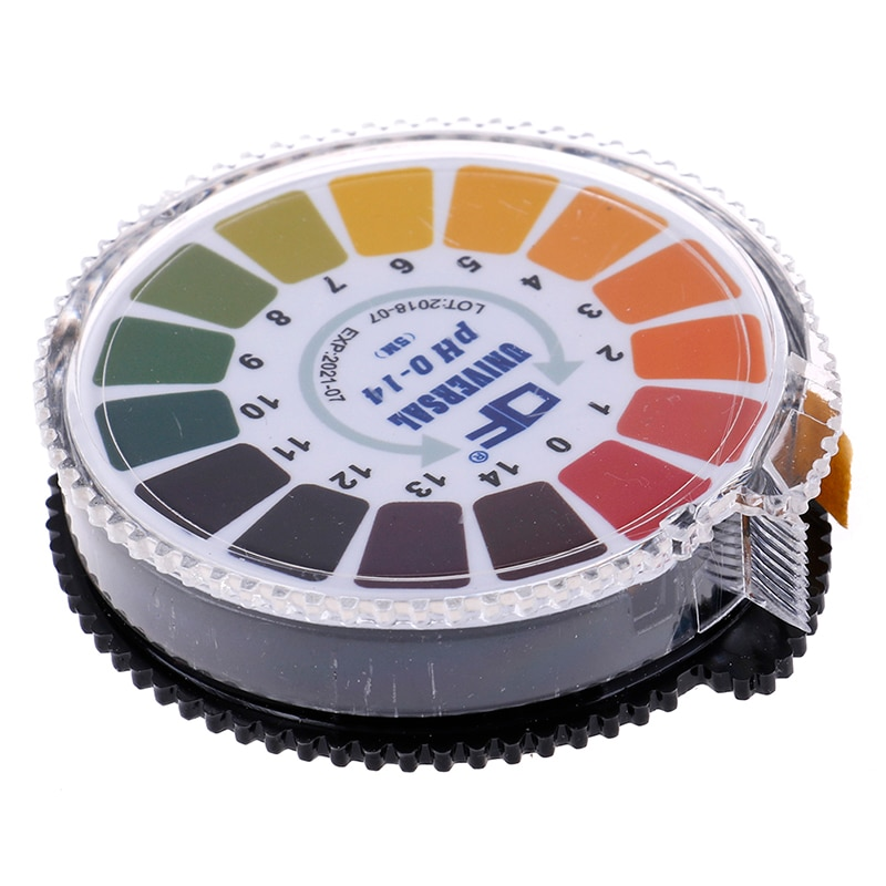 1pc 5M Alkaline Acid Indicator Meter Test Paper Roll 0-14 1-14 PH Meters For Water Urine Saliva Soil Litmus Accurate Measuring