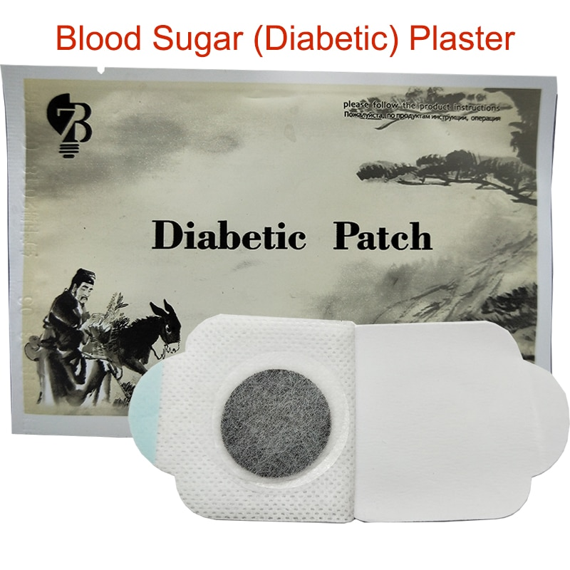Remendo da pressão arterial do diabético do açúcar no sangue da cura do produto do tratamento da diabetes das ervas naturais de 3 pces reduzem o açúcar no sangue alto