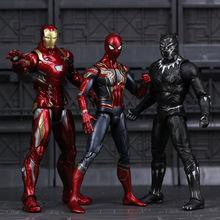 Avengers Unendlichkeit Krieg Eisen Spinne Figur Spiderman Schwarz Panther Iron Man Action Figur spielzeug