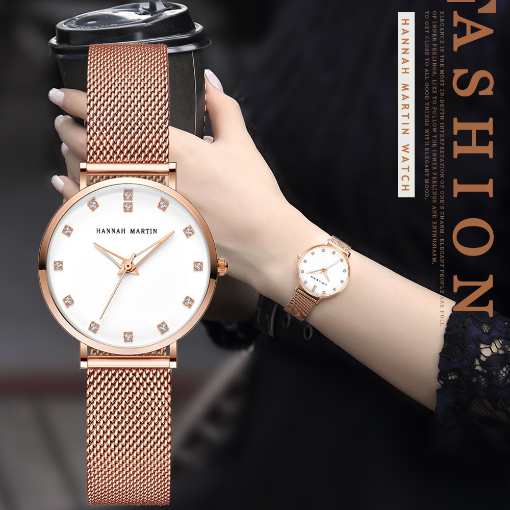 Rose Gold Watch Women Luxury Brand Jewerly Ladies Quartz Wrist Watches 32mm Small Rhinestone Diamond Clock Female montre femme