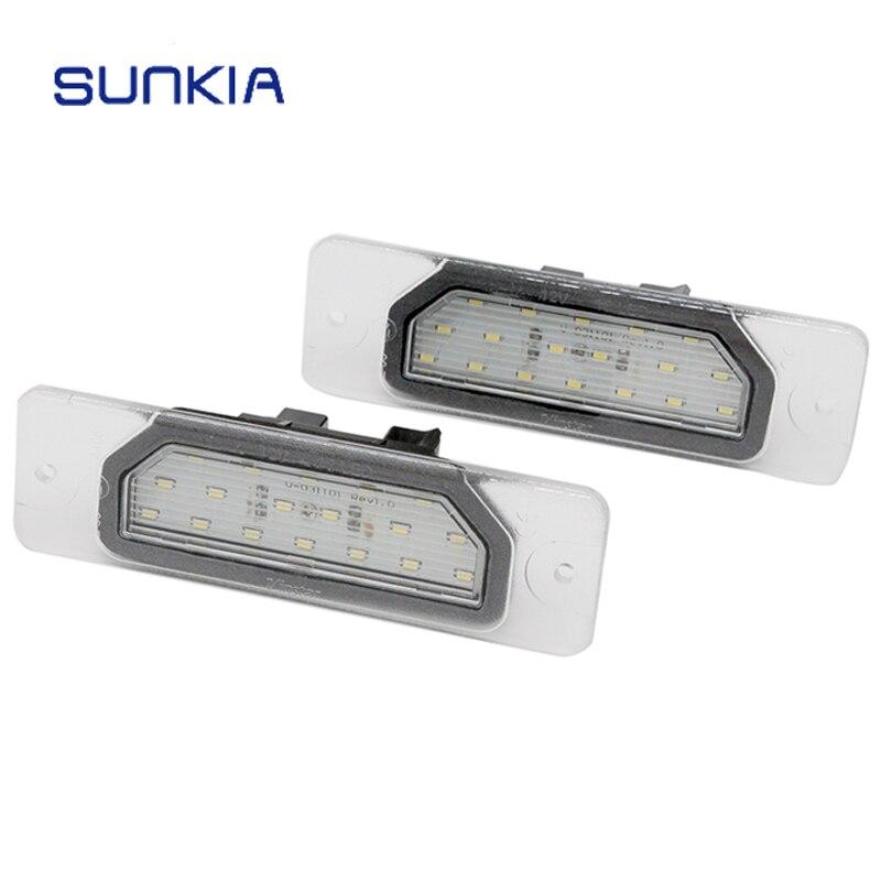 SUNKIA 2 unids/par 6000k luz de placa de matrícula LED blanca para Infinit FX35/45/Q45/I30/I35/M37/M56 sin errores