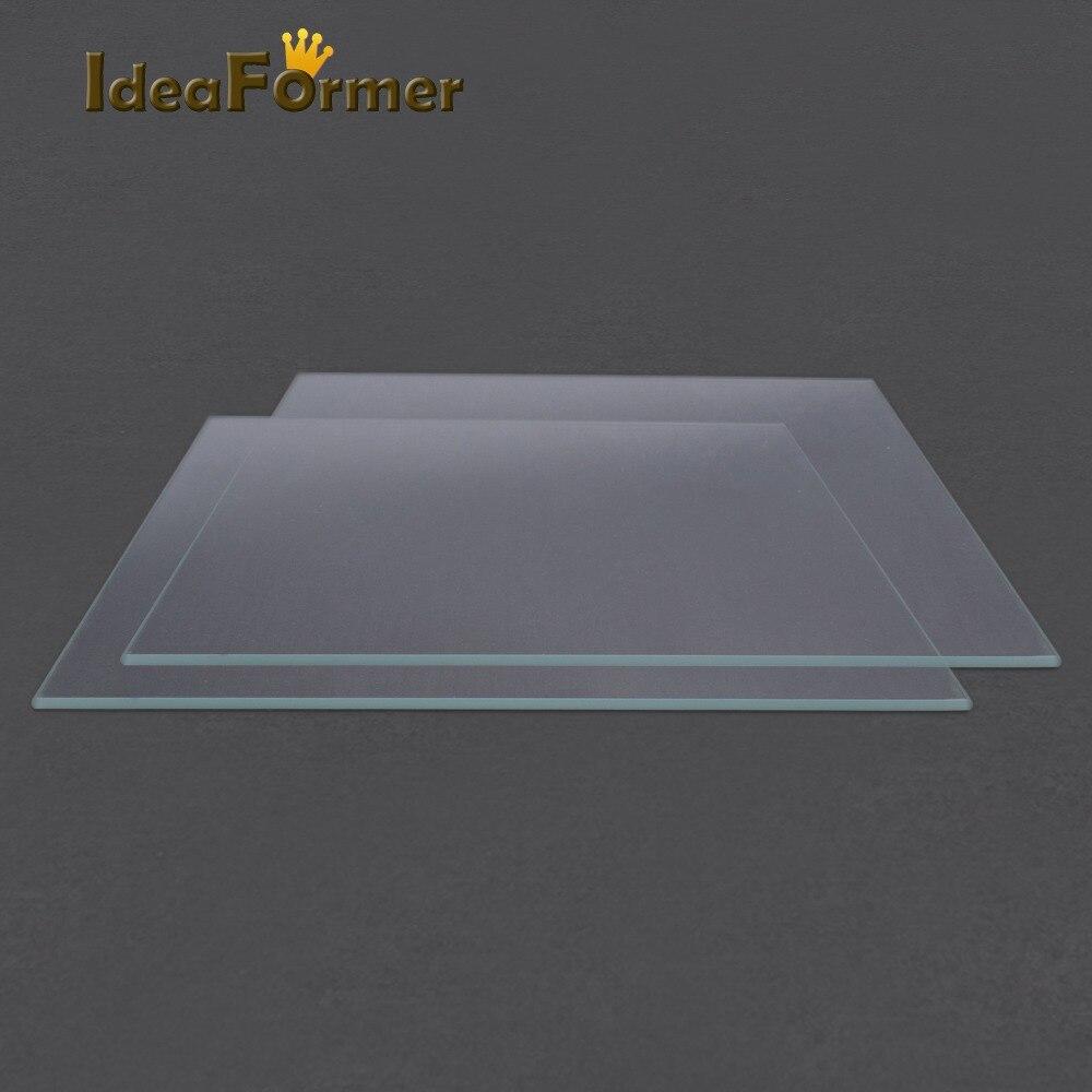 Accesorios de impresora 3D Reprap MK2 cama climatizada placa de vidrio de borosilicato piezas de impresora 3D de buena calidad.