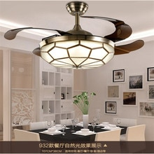Ventilateurs de plafond lumière LED 36 pouces 42 pouces 90 cm/108 cm 24-40 W ventilateur de plafond, 110-240 v