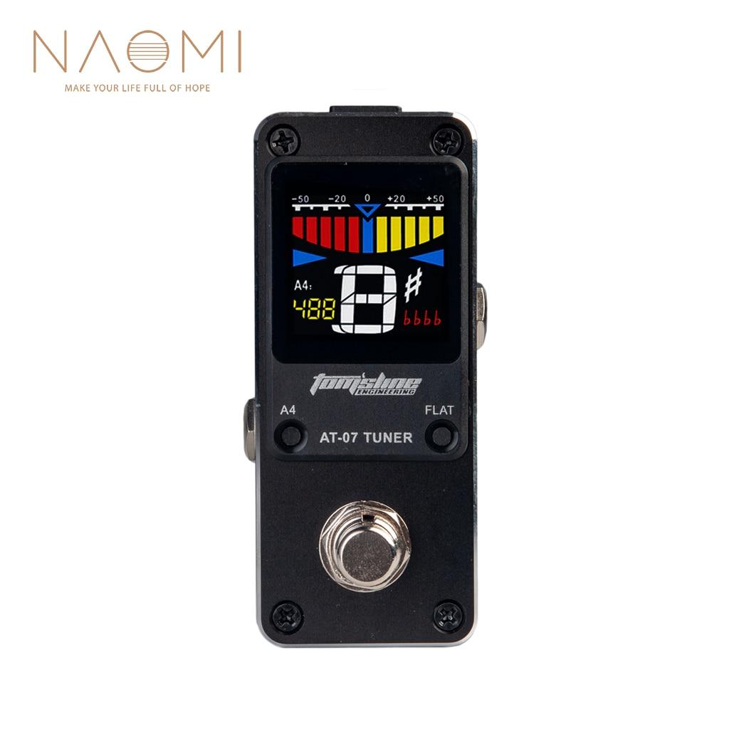 NAOMI AROMA AT-07 мини хроматический тюнер Одиночная педаль эффектов для гитары электроэффекты аксессуары для гитары Новинка