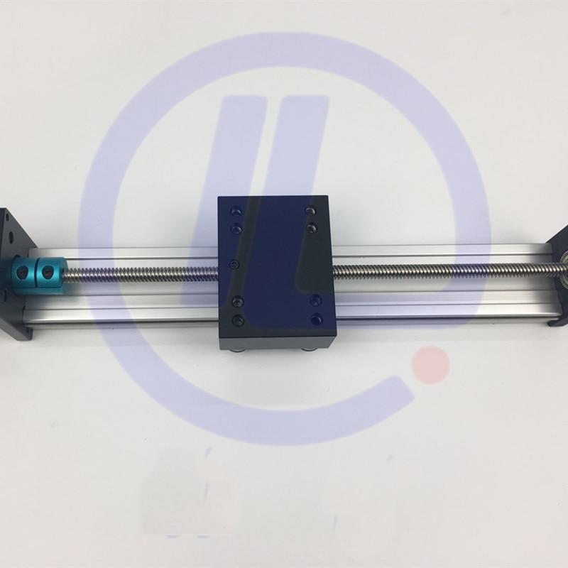 STK-برغي T فعال للسفر ، 500 مللي متر T8 * 8 مللي متر ، دليل خطي لطاولة متحركة ، محرك متدرج نيما 23
