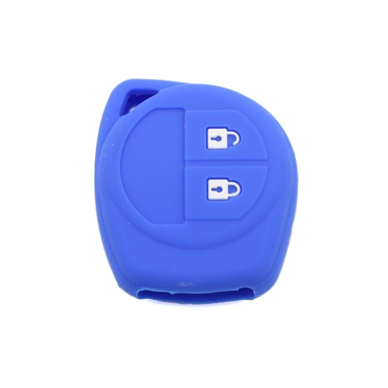 Синий силиконовый чехол для ключей Suzuki Swift Sx4 Liana Alto Grand Vitara автомобильные аксессуары 2 кнопки