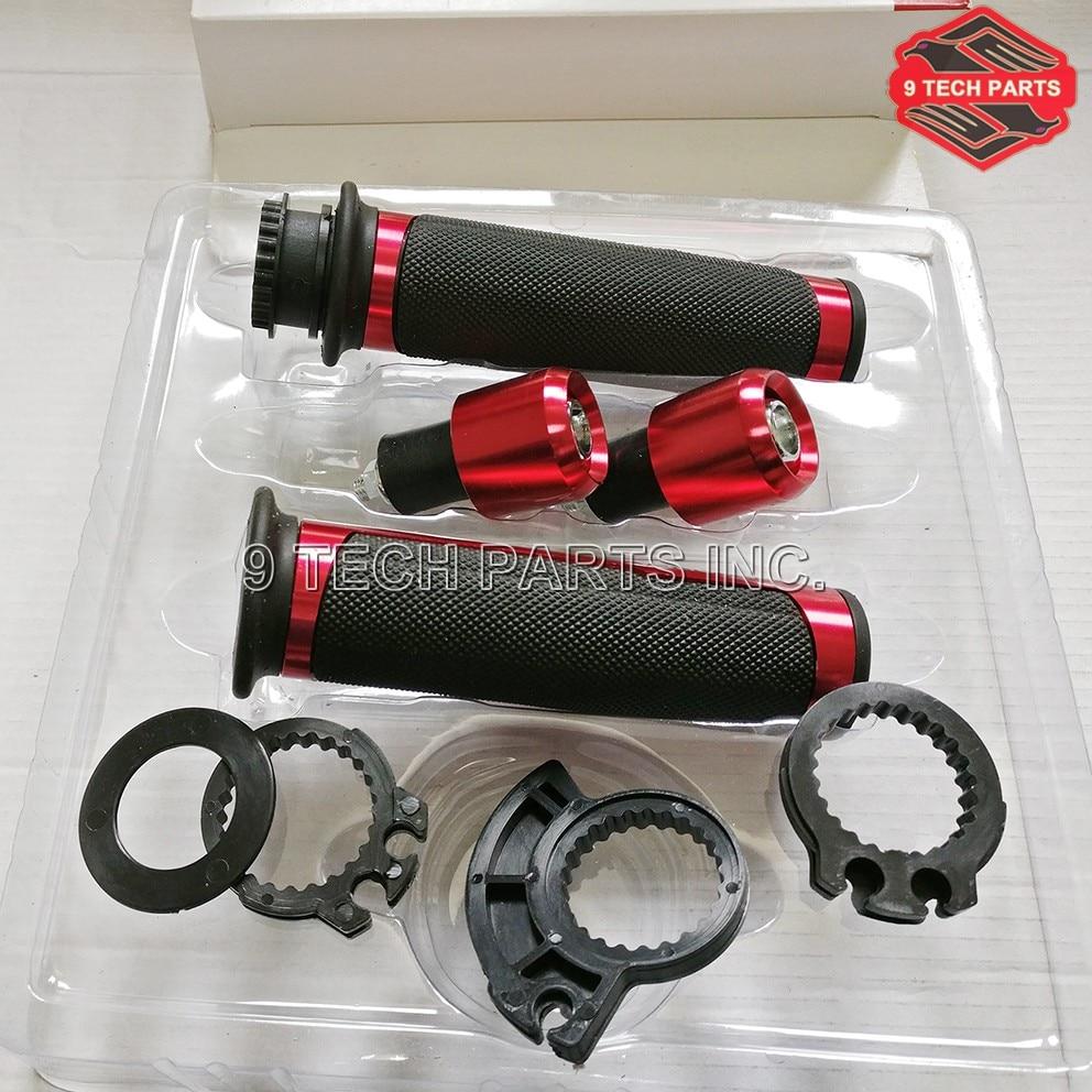 Universal 22mm Street & Racing for BARRACUDA Grips kit with Bar end CNC 7/8'' Motorcycle Handle bar CAPS / Handlebar Grip Kit