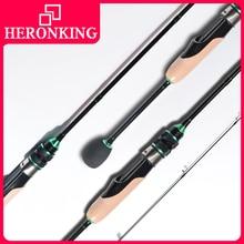 HERONKING 1.8m ul ultralight carbon fiber fishing rod 2-6g lure weight fishing rods 2-6LB line weight ultra light spinning rods