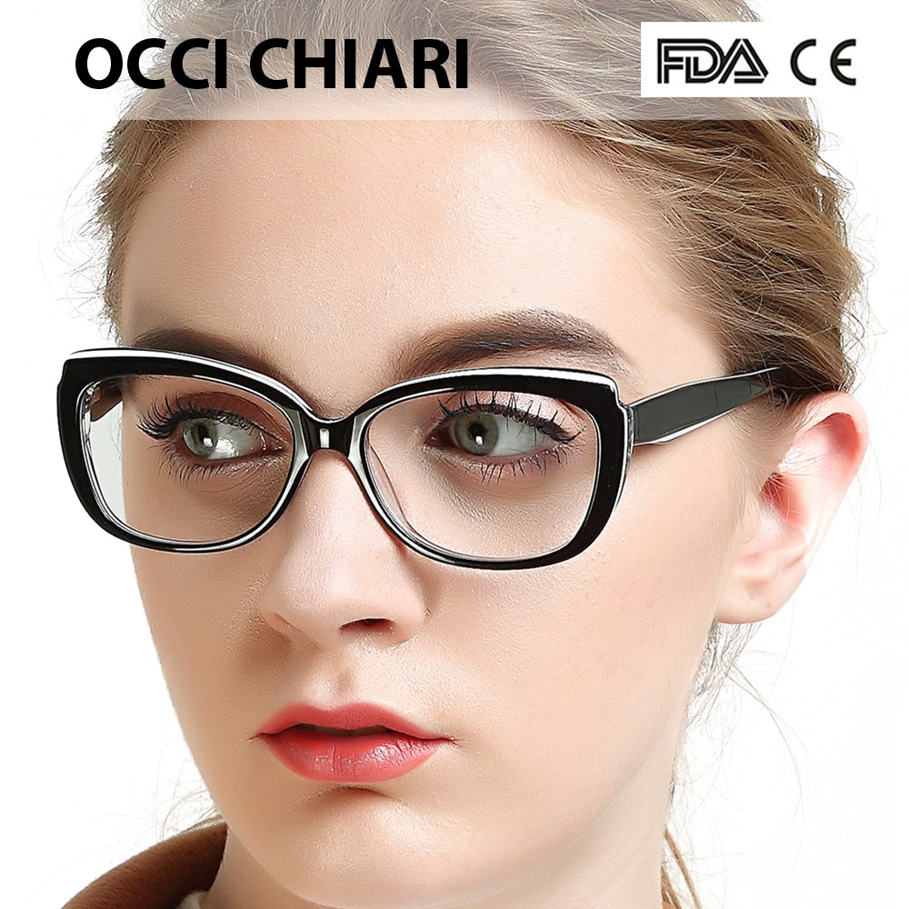 Gafas OCCI CHIARI, monturas de Gafas para mujer, lentes de receta clara, montura de Gafas ópticas médicas, Gafas, Gafas, W-COLOTTI