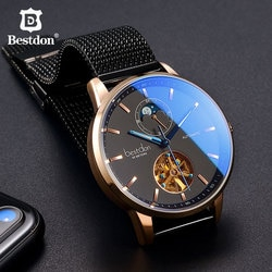 Bestdon luxo relógio mecânico masculino automático tourbillon esportes relógios dos homens moda suíça marca relógio relogio masculino