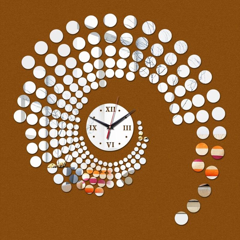 Oferta especial limitada, reloj de pared de acrílico moderno con aguja de agua para decoración del hogar de cuarzo, papel tapiz, relojes Diy