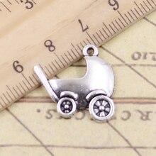 20 pièces breloques bébé landau Buggy 20x21mm tibétain argent couleur pendentifs Antique fabrication de bijoux bricolage artisanat à la main