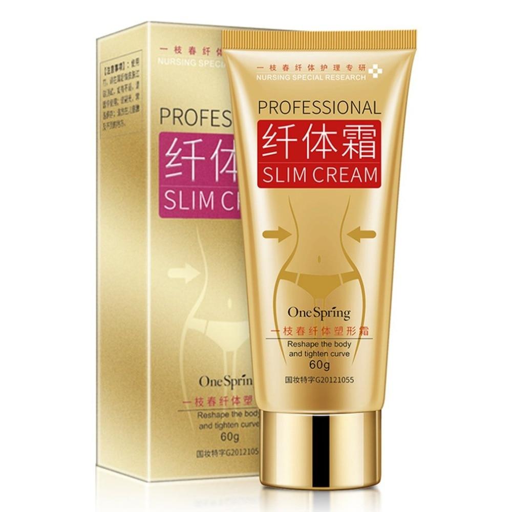 Crema adelgazante cuerpo para mujeres, fórmula Natural 60G, rápida quema grasa, pérdida de peso, cintura estrecha, crema para el vientre, masaje anticelulitis