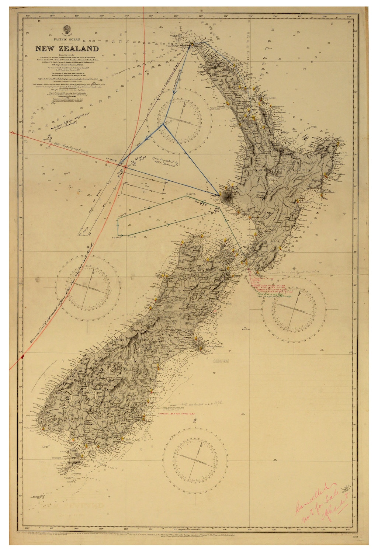 Новая Зеландия NZ карта поиска для недостающих авиаторов Джордж путешествия классические настенные наклейки холст винтажный постер домашн...