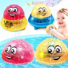 Jouets de bain pulvérisation lumière de leau rotation avec douche piscine enfants jouets pour enfants enfant en bas âge natation partie salle de bain lumière LED jouets cadeau