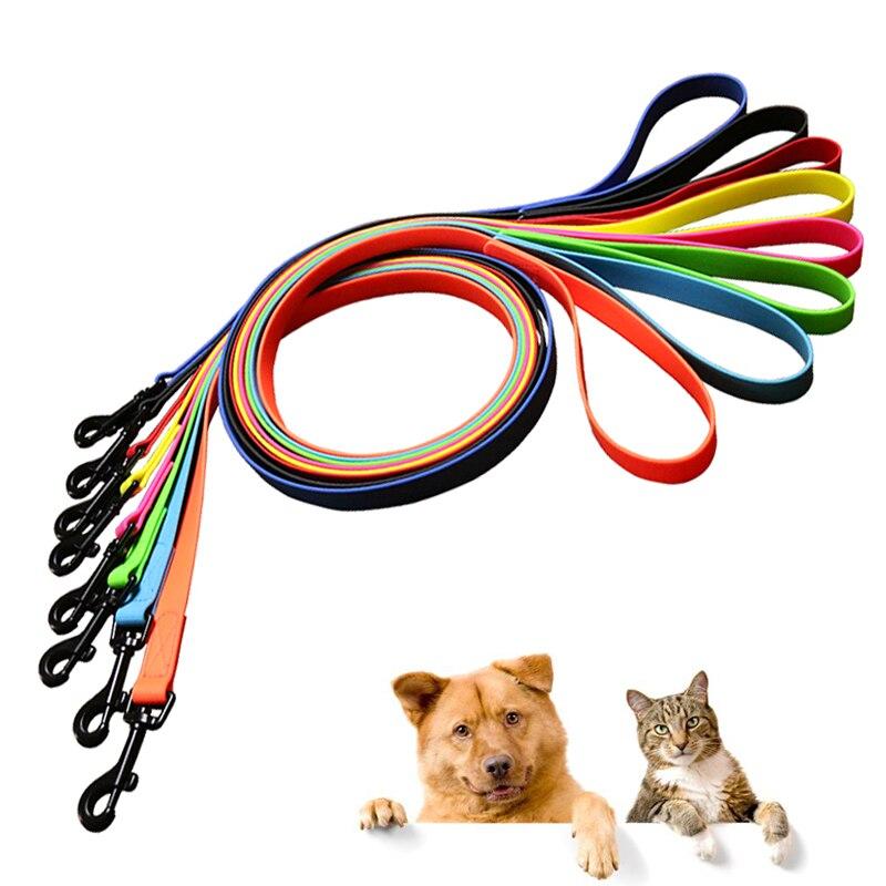 Trela do cão coleira de cachorro pvc impermeável leash do cão trelas anti sujo fácil de limpar para cães pequenos grandes coleira de cachorro produtos para animais de estimação