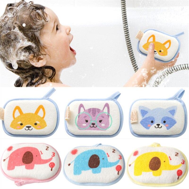 Esponja de banho de bebê bonito macio inirritativo natural banho espuma chuveiro esponja para crianças crianças recém-nascidos escova de toalha de limpeza