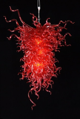 Dale Chihuly estilo rojo lámparas de cristal de Murano moderno cristal LED colgante de cristal rojo Lightings