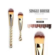 Pinceau de maquillage pour fond de teint lisse Pro-qualité, crème pour le visage plate conique, apprêt liquide, hydratant teinté, pinceaux de maquillage noir