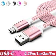 Kabel USB typu C szybkie ładowanie dla Samsung Galaxy S20 Ultra A50 uwaga 10 Plus 3m 2m Kabel Usb Kabel USB Usb dla Xiaomi Mi A3 9 8