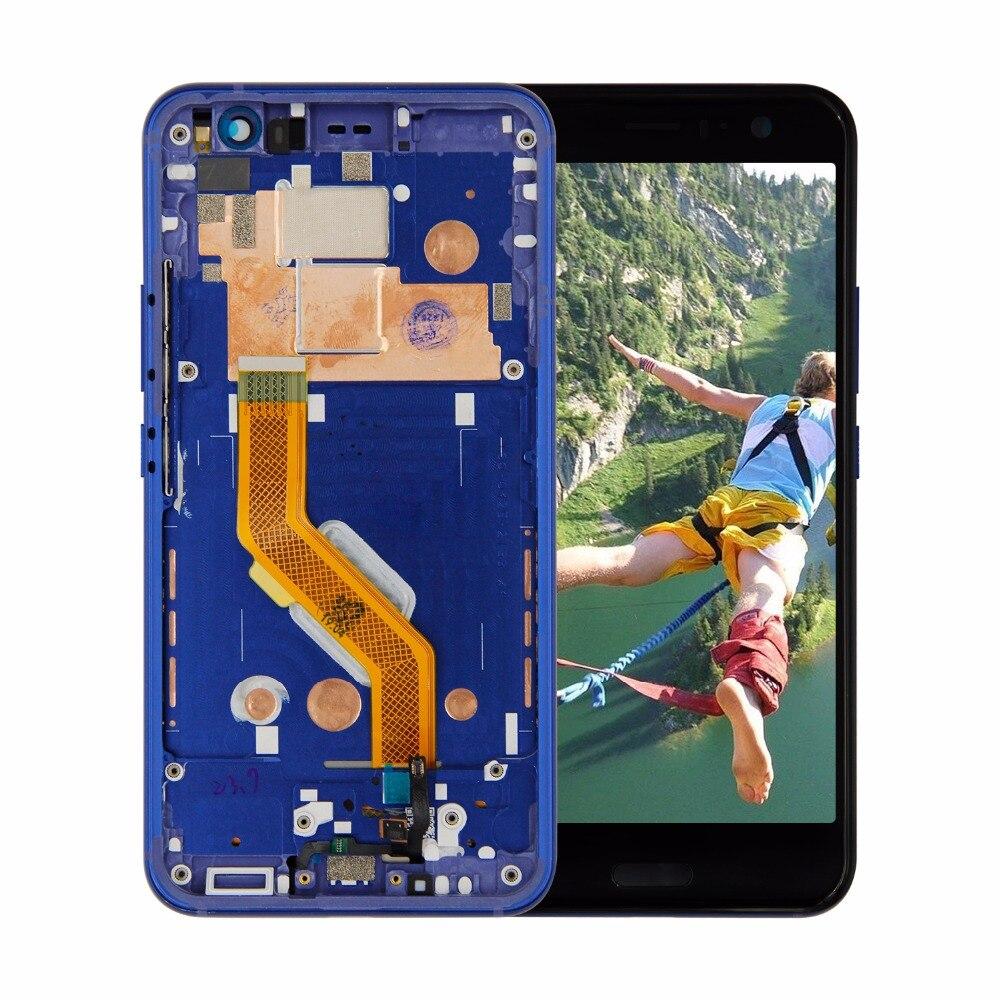 Para HTC U11 LCD pantalla táctil panel de cristal para pantalla digitalizador montaje con marco + herramientas gratis