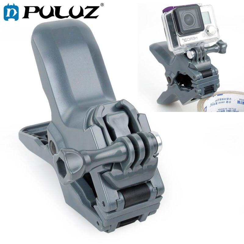 PULUZ Jaws Flex Grampo Monte com Fivela & Thumb Screw para GoPro, Outras Câmeras de Esporte
