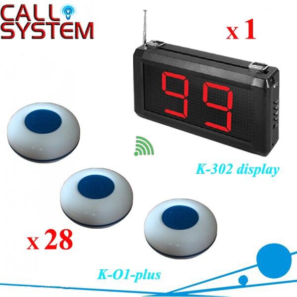 Système de serveur de téléavertisseur de Restaurant de belle conception 1 récepteur de service 28 avertisseur sonore fabriqué en chine