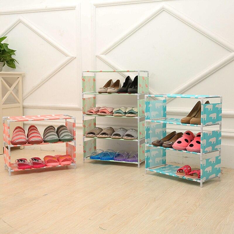 3/4/5 niveles organizador de almacenamiento de zapatas organizador de zapatos de pasillo...