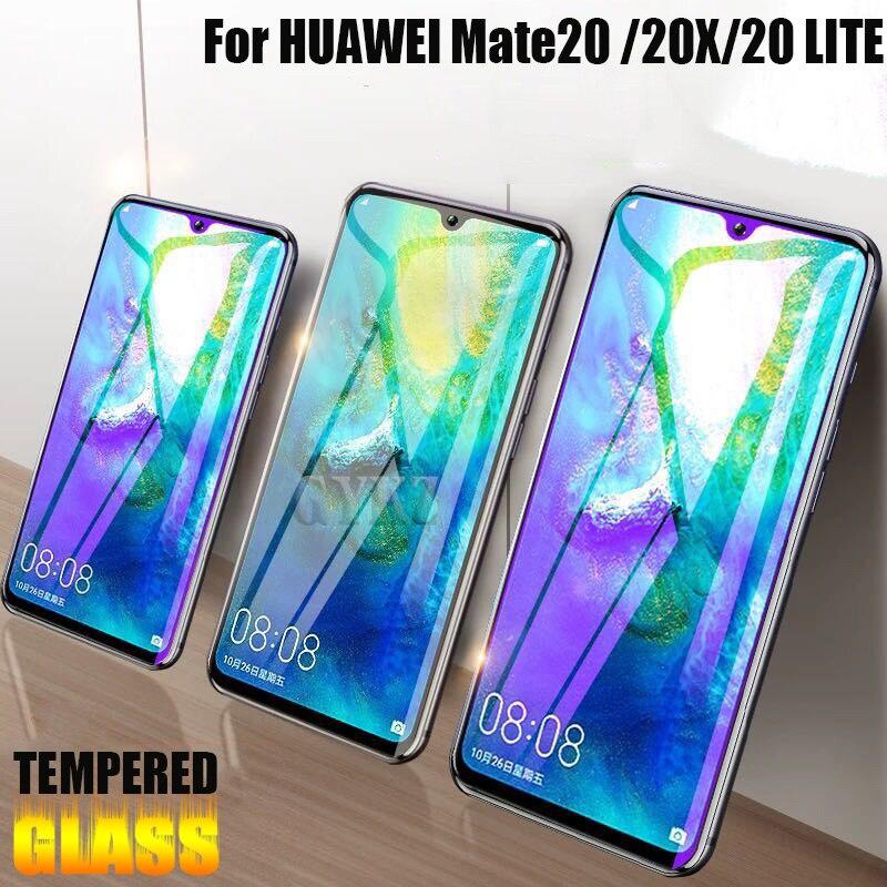 2 uds vidrio templado cubierto de pantalla completa para Huawei Mate 20 lite 20X vidrio protector a prueba de explosiones para Huawei Mate 20 X 20X