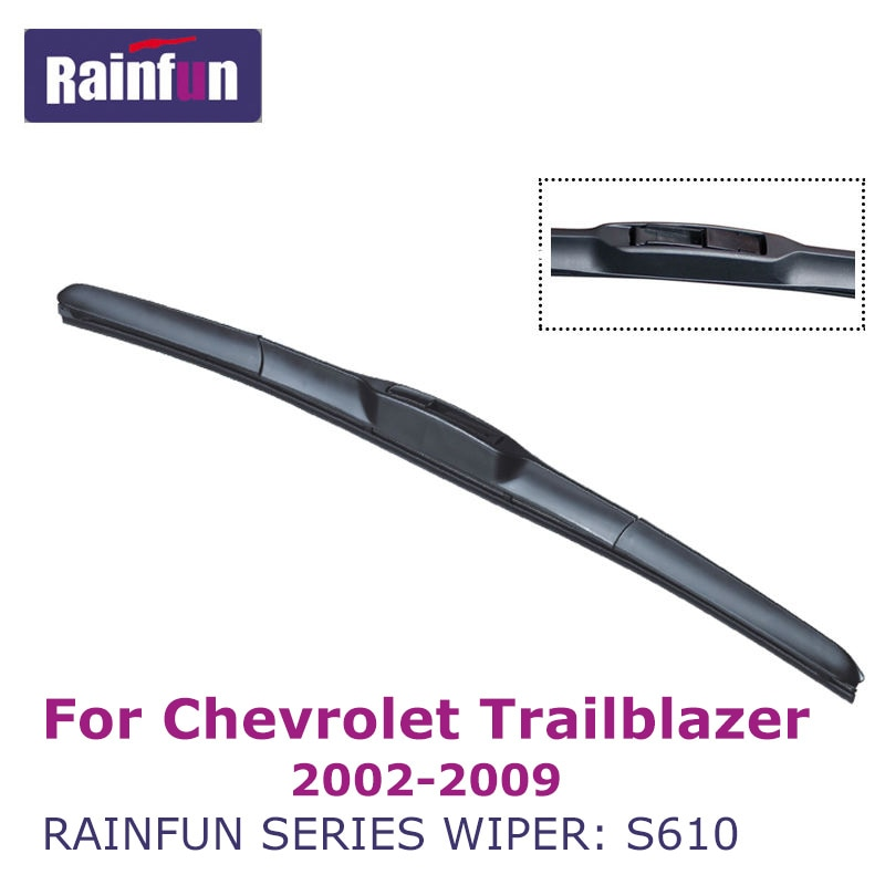 "RAINFUN Dedicado Lâmina de Limpeza Do Carro para Chevrolet Trailblazer (02-09) limpadores para J Gancho Braços 22 S610 ""+ 22"" 2 pcs tergicristalli"