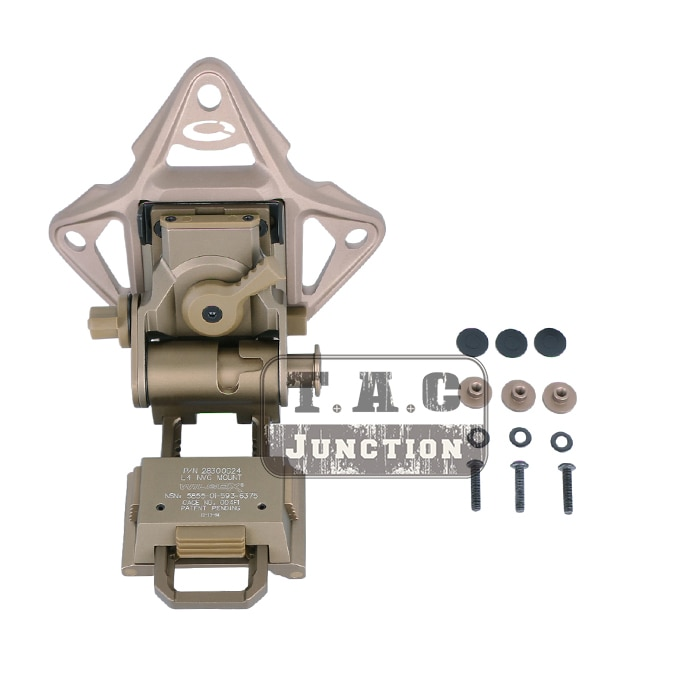 Wilcox L4 G24 NVG крепление + кожух набор L4G24 металлический стиль отколовшейся MICH ACH Шлем Ночное Видение Goggle крепление AN/PVS-7 14 15 18 21