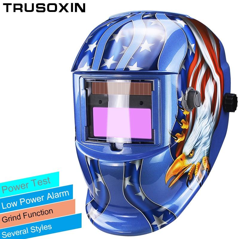 Solar LI battery automatic darkening TIG MIG MMA MAG KR KC electric welding mask/helmets/welder cap for welding machine