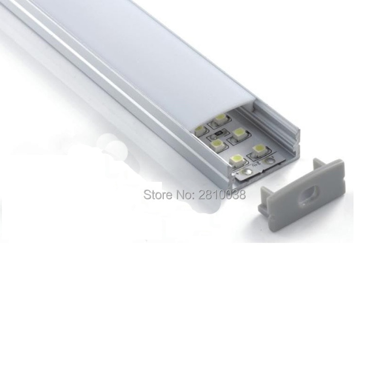 500 X 2M Sets/Lot 6000 series flat led strip aluminum channel and 24mm wide U style aluminium led extrusion housings for wall
