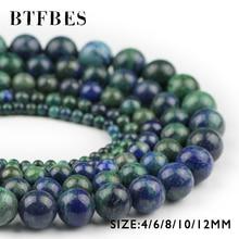 BTFBES الطبيعية فينيكس حجر اللازورد الخرز خام مستدير فضفاض الخرز 4 6 8 10 12 مللي متر الكرة سوار مجوهرات صنع لتقوم بها بنفسك اكسسوارات